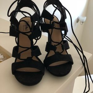 Black Strappy Mossimo Heels